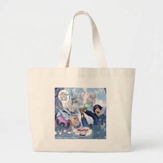 Pilates Airlines Rick London Funny Gifts Large Tote Bag