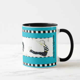 """pilates and coffee"" mug"