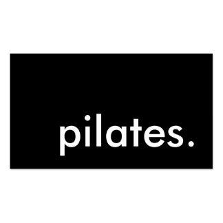 pilates color customizable business card