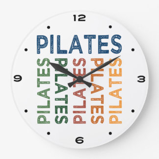 Pilates Cute Colorful Large Clock