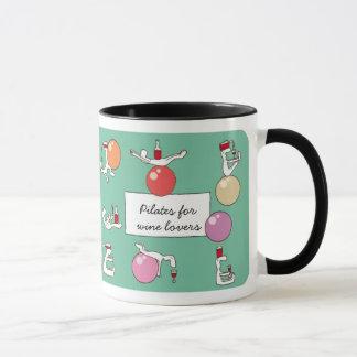 Pilates for Winelovers Mug, green Mug