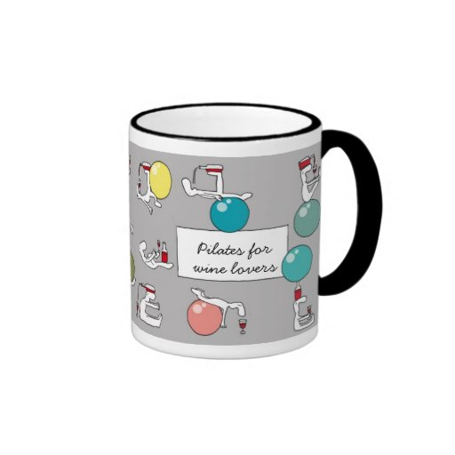Pilates for Winelovers Mug, grey