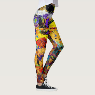 Pilates In Abstract Leggings