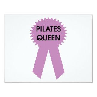 Pilates Queen 11 Cm X 14 Cm Invitation Card