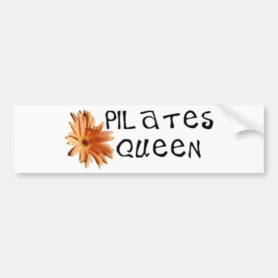 Pilates queen unique design! bumper sticker