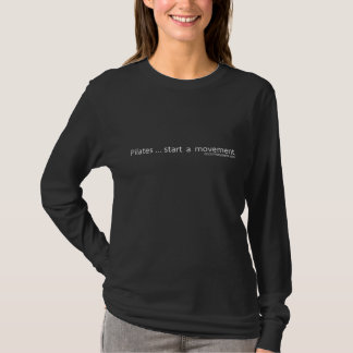 Pilates Start A Movement - White Caption T-Shirt