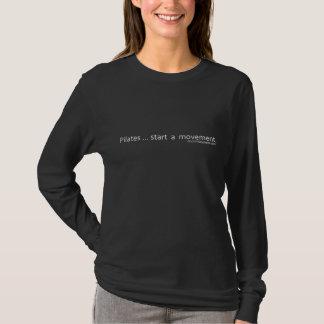 Pilates Start A Movement - White Caption T-Shirt