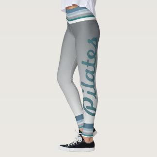 Pilates strip blue leggings