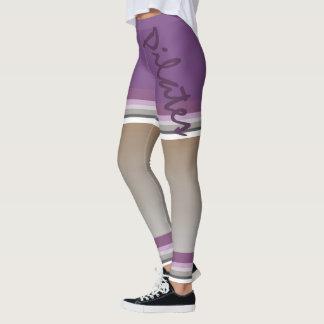 Pilates strip multicolored leggings