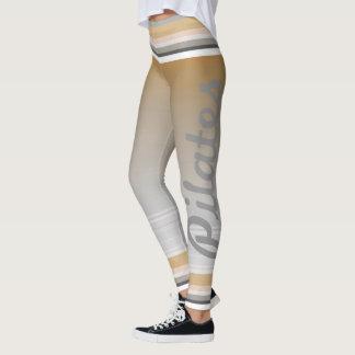 Pilates strip ocher leggings