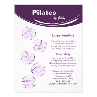 Pilates studio flyer