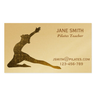 Pilates Teacher Pilates Instructor stylish Double-Sided Standard Business Cards (Pack Of 100)