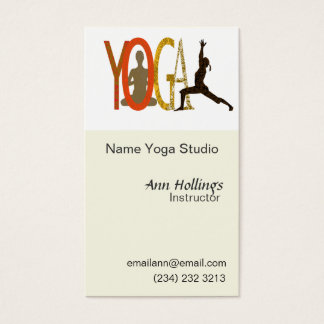Pilates Yoga Business Card