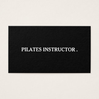 Pilates Yoga Instructor Teacher Business Card