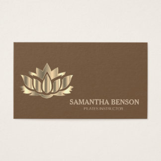 Pilates Yoga Instructor Teacher Lotus Business Card