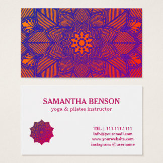 Pilates Yoga Instructor Teacher Mandala Business Card