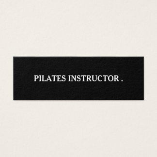 Pilates Yoga Instructor Teacher Mini Business Card