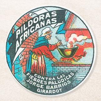 Pildoras Africanas Round Paper Coaster