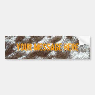 pile fabric bumper sticker