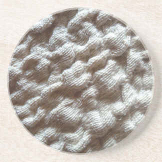 pile fabric drink coaster