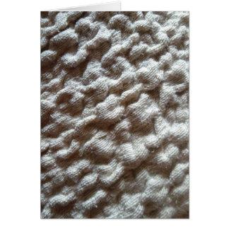 pile fabric greeting card