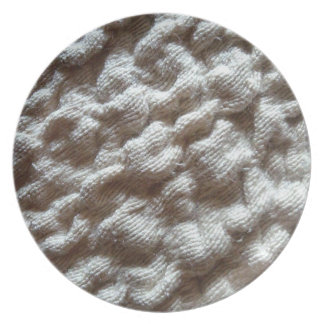 pile fabric party plate