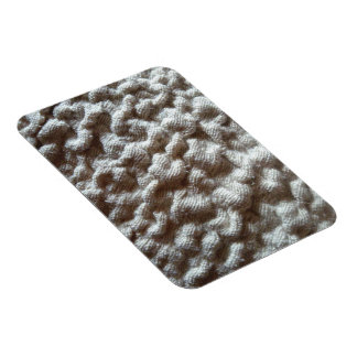 pile fabric rectangular photo magnet
