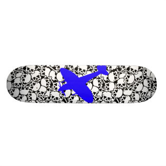 pile_o_skullz_black, spitfire blue custom skateboard