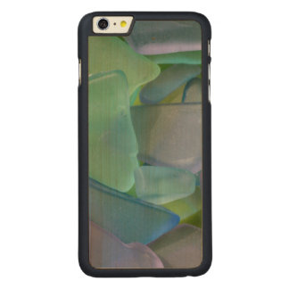 Pile of blue beach glass, Alaska Carved® Maple iPhone 6 Plus Case
