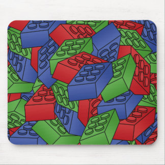 Pile of Building Blocks Mouse Pad