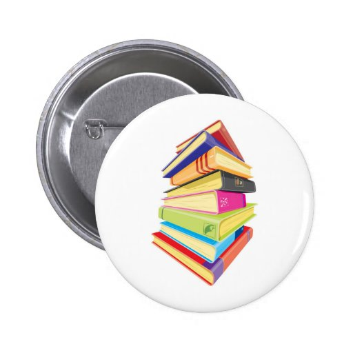 Pile of colorful books pin