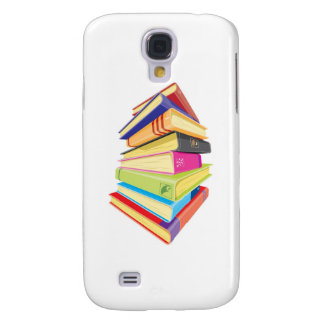 Pile of colorful books samsung galaxy s4 cover