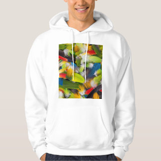 Pile of colorful feathers hoodie