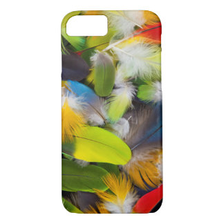 Pile of colorful feathers iPhone 8/7 case