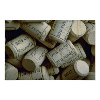 Pile of corks poster