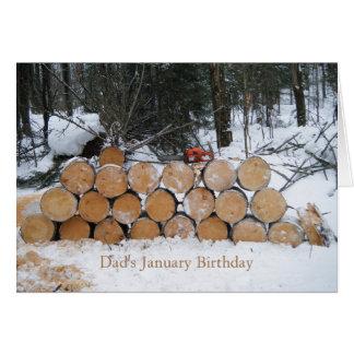 Pile of Cut Logs Greeting Card