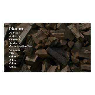 Pile of cut wood business card