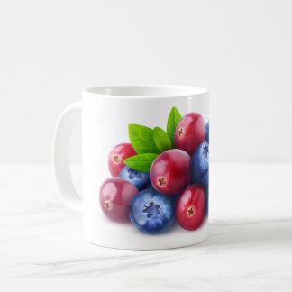 Pile of fresh berries coffee mug