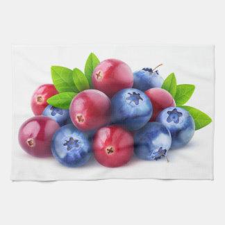 Pile of fresh berries hand towel