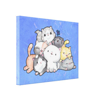 Pile of Kittens Canvas Print