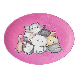 Pile of Kittens Porcelain Serving Platter