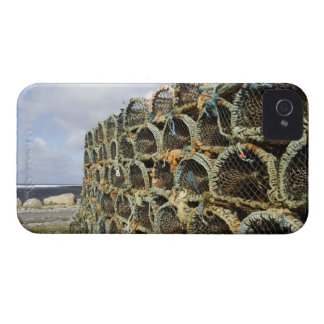 pile of lobster crab pots on Irish shoreline iPhone 4 Cases