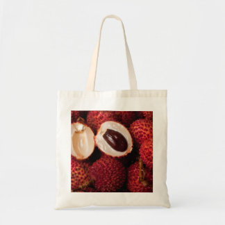 Pile of lychees budget tote bag