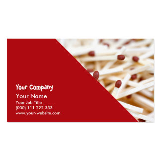 Pile of matches business card templates