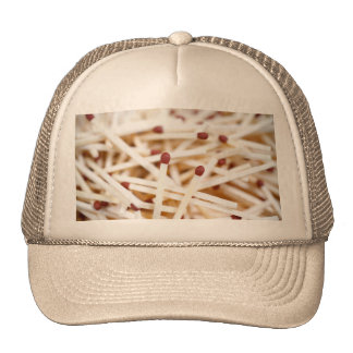 Pile of matches mesh hats