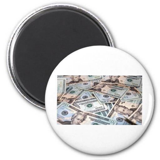Pile of money refrigerator magnet