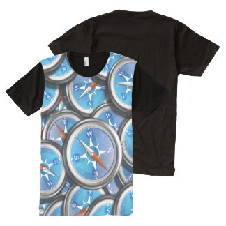 Pile of Nautical Compasses All-Over Print T-Shirt