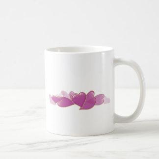 Pile of Pink Hearts Basic White Mug