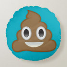Pile Of Poo Emoji Round Cushion