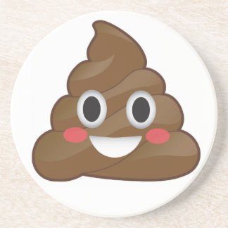 Pile of Poop Happy Emoji Coaster